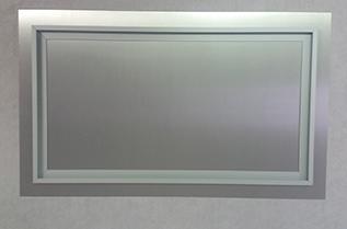 White Aluminium Panel : Aluminium hanging system for aluminium panels chromio