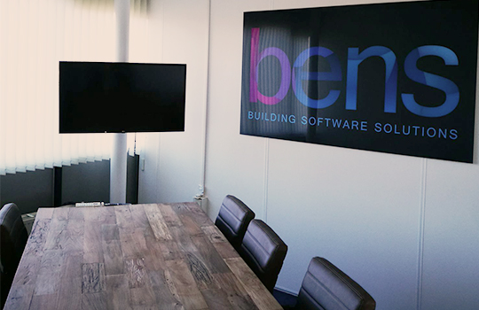 Office furnishings with a photo panel