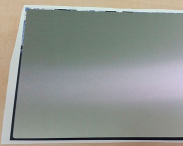 Aluminum sheet for sublimation