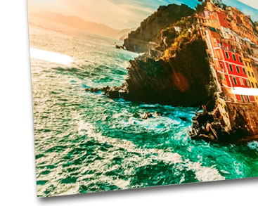 Sublimation on aluminum photo panel